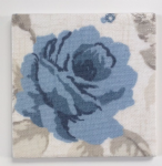 Ceramic Wall Tiles in Clarke and Clarke Vintage Blue Rose